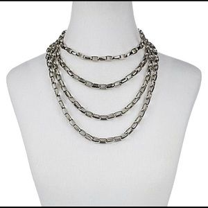 Stainless Steel Multi Layered Necklace